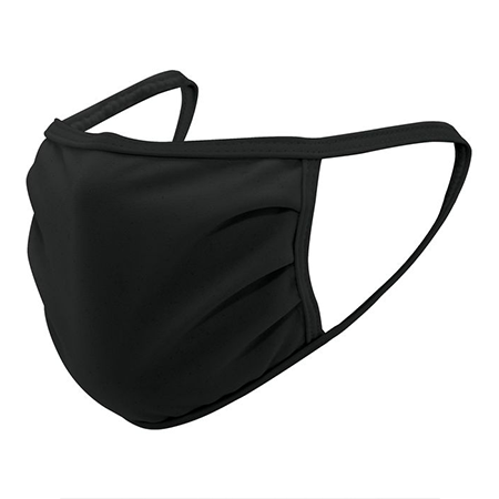 blank black face mask sport wicking